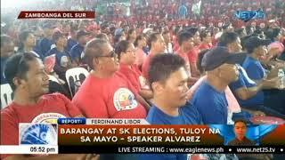 Barangay at SK elections, tuloy na sa Mayo   Speaker Alvarez