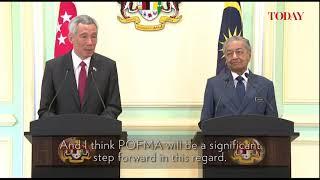 PM Lee, Dr Mahathir on tackling fake news.
