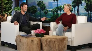 The actor told Ellen all about getting up close and personal with a...