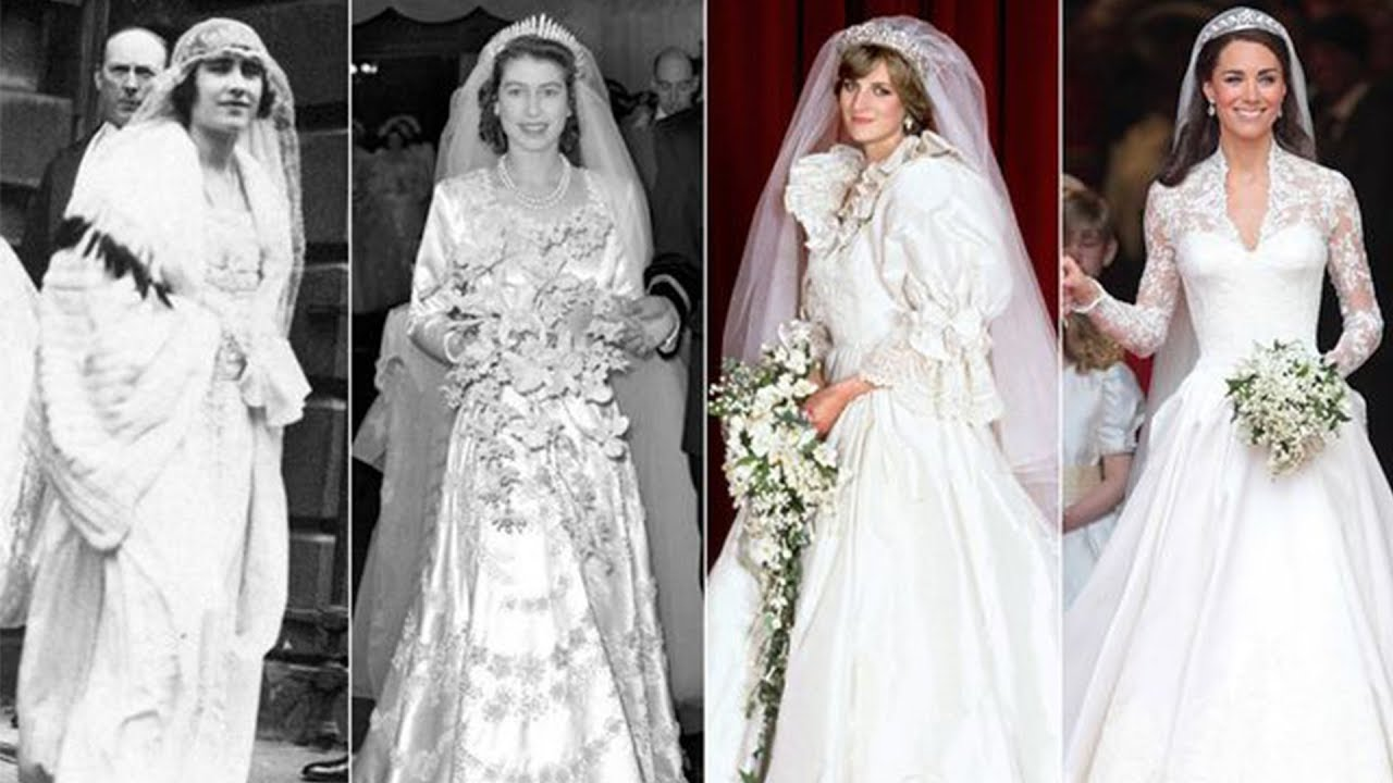 Stunning Royal Wedding Dresses Throughout History - YouTube