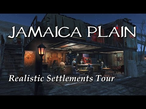 Settlement Tour ep21 Jamaica Plain saloon & brothel - Fallout 4 PS4