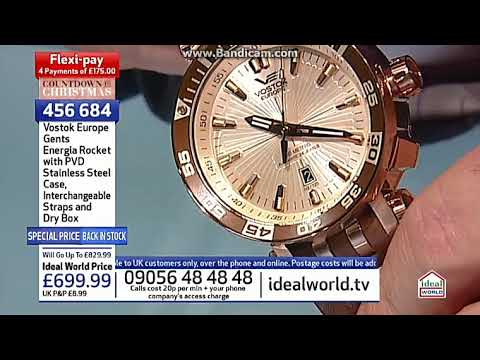 805217ea974a Vostok Energia watch Ideal World shopping channel £699 - YouTube