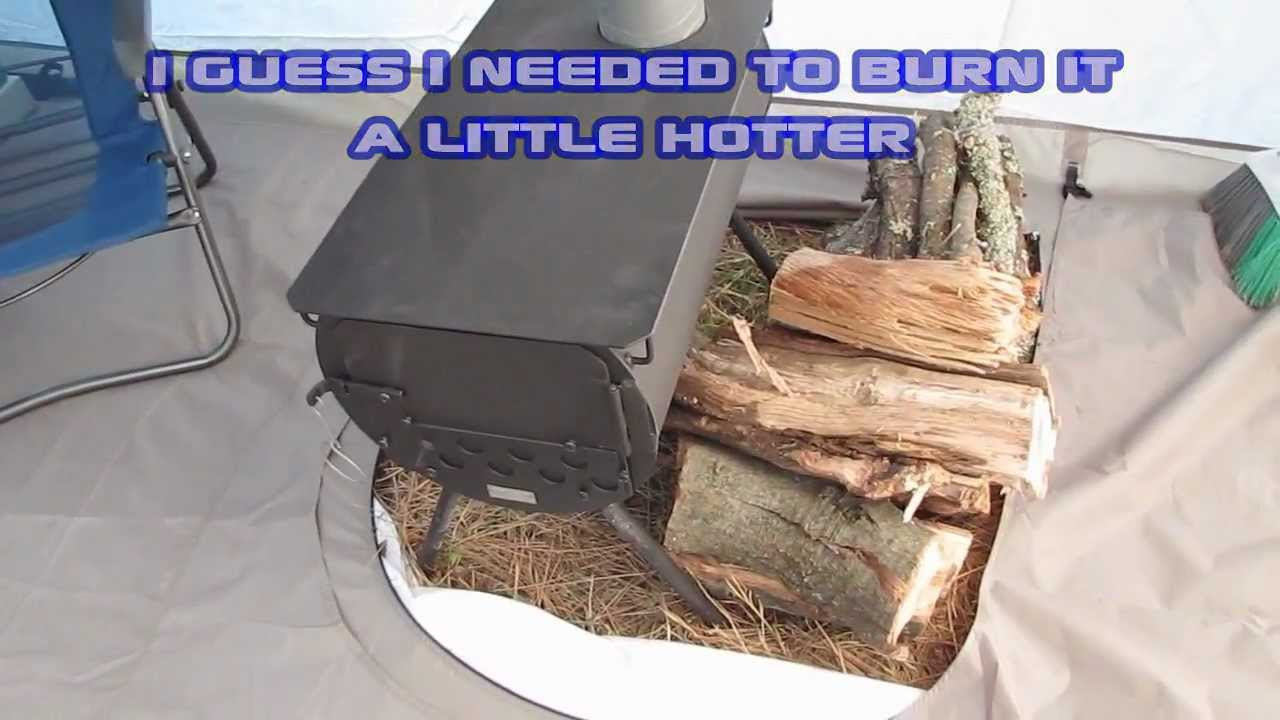 Cabelas Ultimate Alaknak Tent with Wood Stove at Snake Lake C&ing u0026 Deer Hunt - YouTube & Cabelas Ultimate Alaknak Tent with Wood Stove at Snake Lake ...