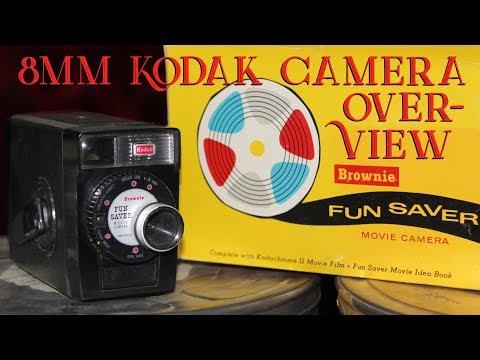 8mm Film - Kodak Brownie 8mm Funsaver Movie Camera Overview