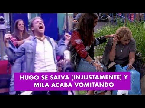 Hugo Castejón se salva (¡¡INJUSTAMENTE!!) y Mila Ximénez acaba vomitando en el jardín | GH VIP 7