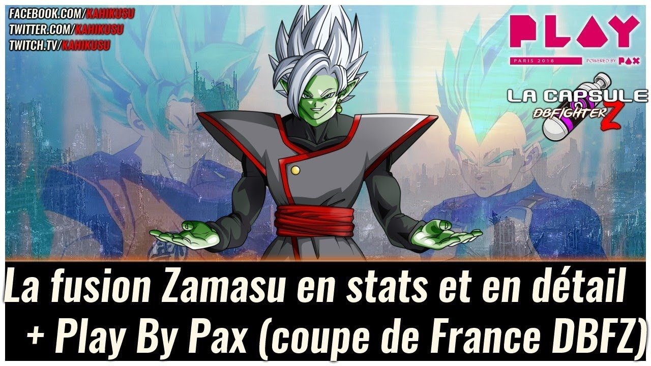 Capsule Dragon Ball Fighterz La Fusion Zamasu En Détail Coupe