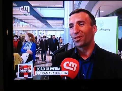 Ultramaratonista João Oliveira - chegada ao Aeroporto Francisco Sá Carneiro