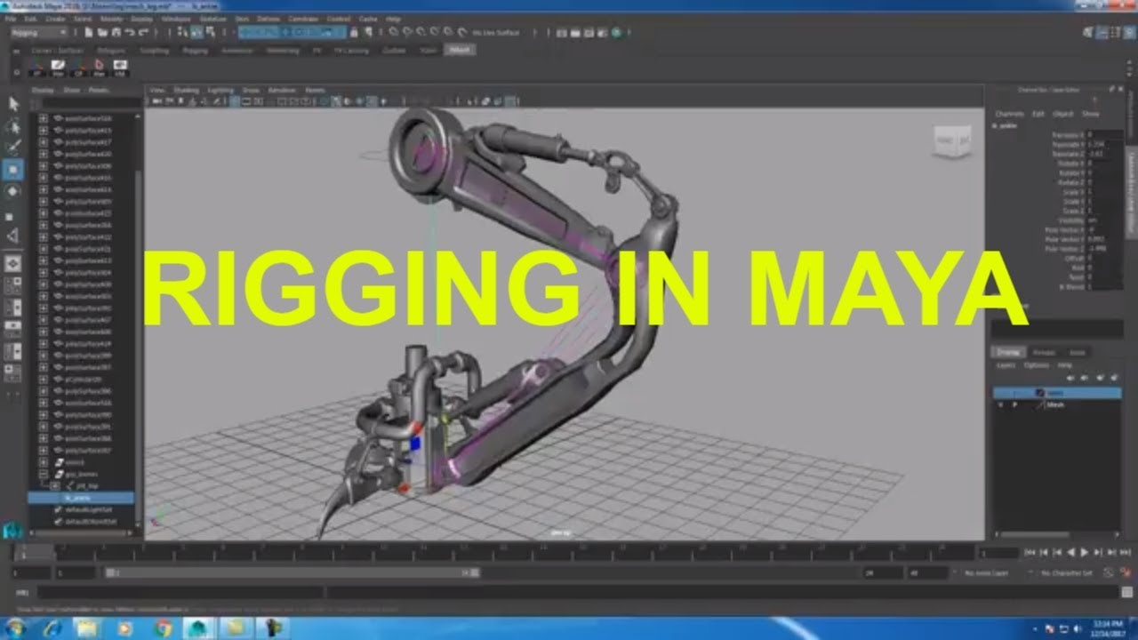 Rigging Mechanical Objects in Maya   Primer in rigging in Maya   RIGGING IN  MAYA