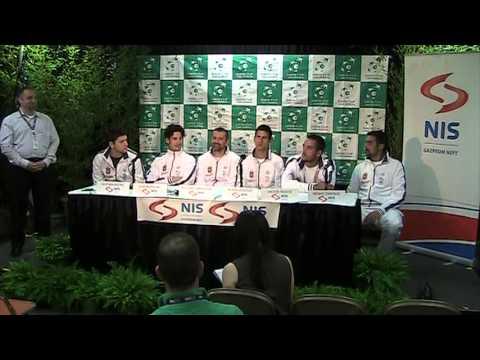 Serbia Davis Cup Press Conference