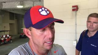 Swinney likes look from Tiger running backs