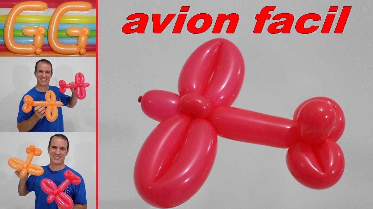 Como hacer un avion con globos globoflexia facil - Hacer munecos con globos ...