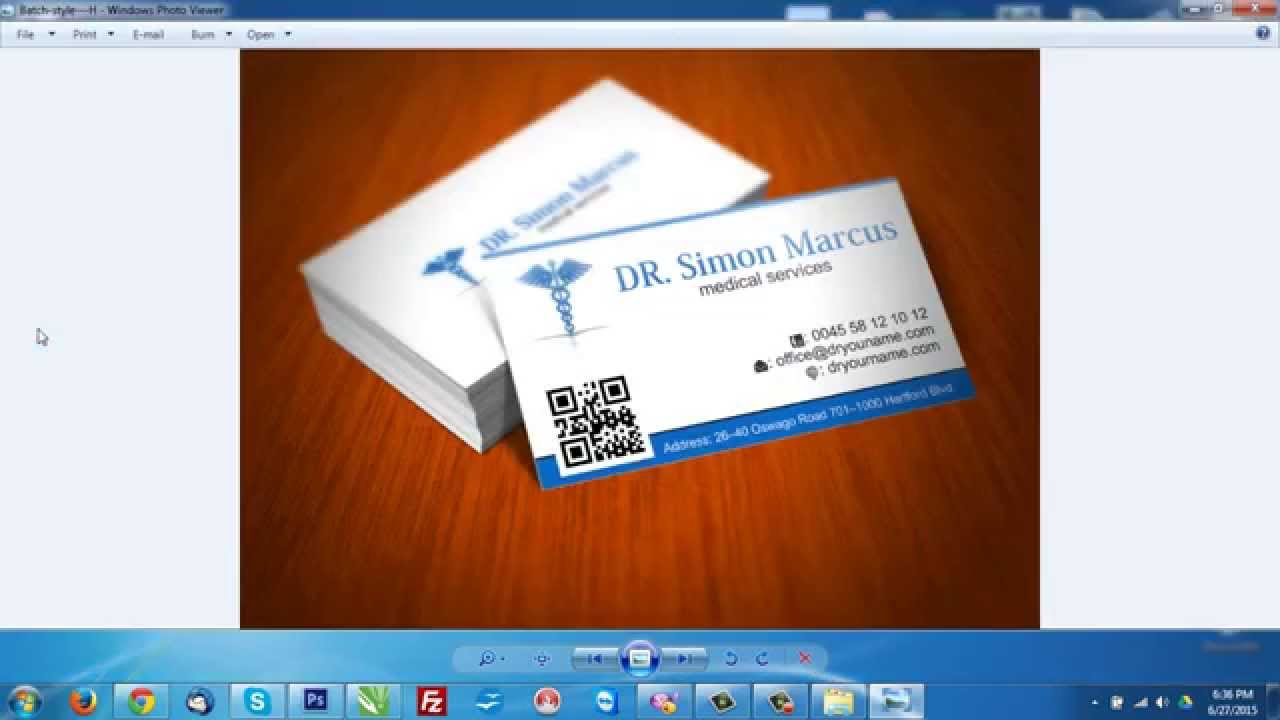 Corel Draw Medical Business card - YouTube