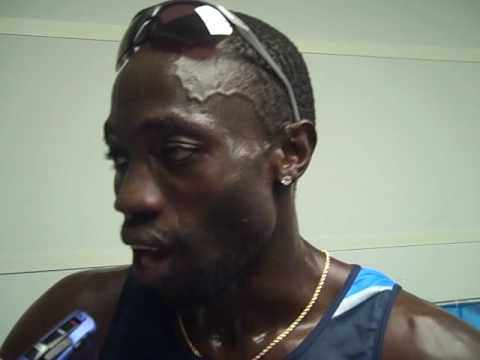 Lopez Lomong after 1500m Final 2009 World Champs