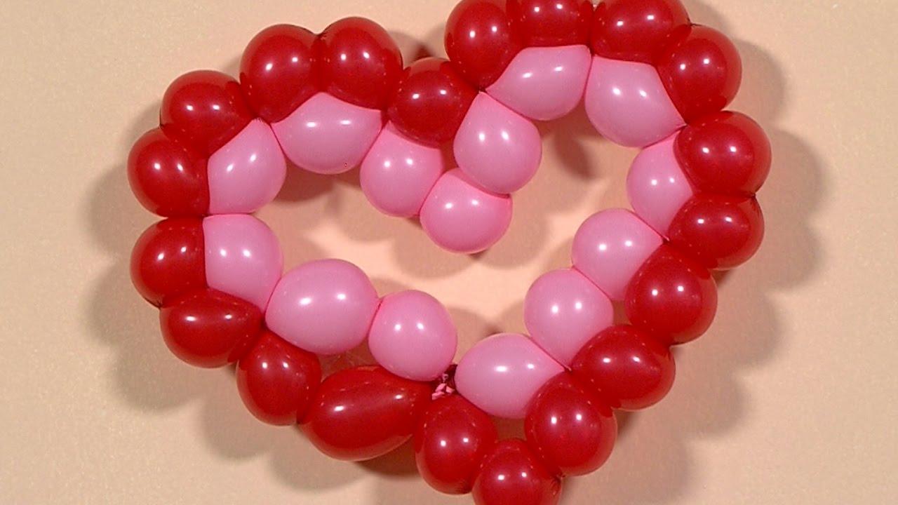 Como hacer un corazon con globos hogartv por juan - Como hacer figuras con globos ...
