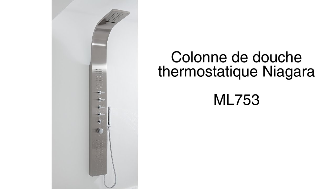 colonne de douche thermostatique niagara youtube. Black Bedroom Furniture Sets. Home Design Ideas