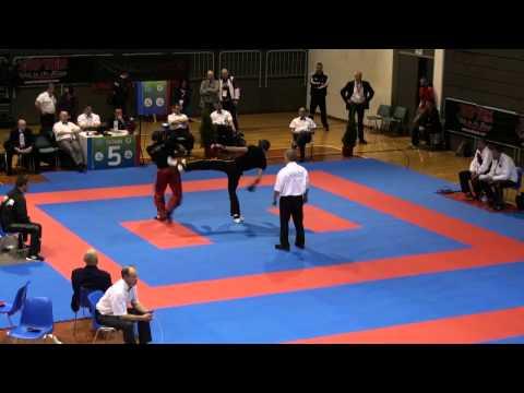 WAKO Kickboxing - EC 2014 - LC -84kg - Zaar(GER) - Nwamerue(BUL)