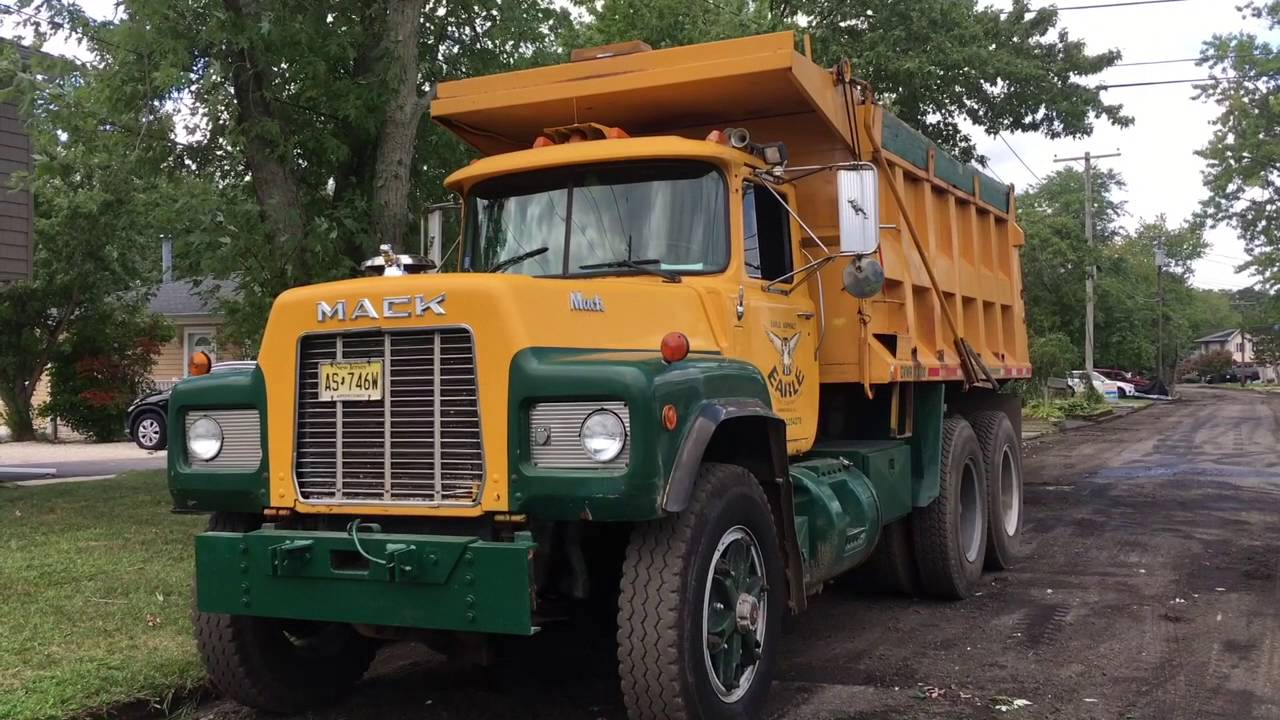 hight resolution of old mack dump truck