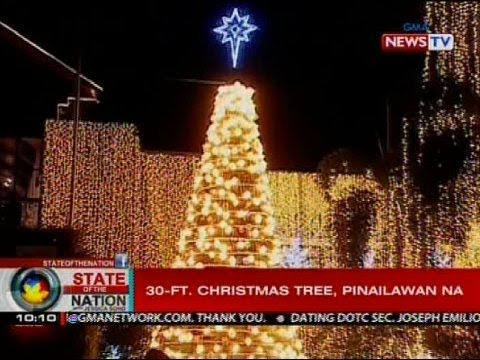 SONA: 30-ft. Christmas tree sa Muntinlupa, pinailawan na