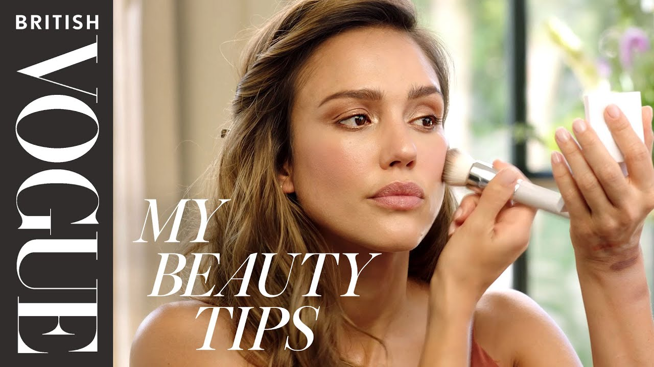 Jessica Alba's Glamorous Bronzed Makeup Look | My Beauty Tips | British Vogue