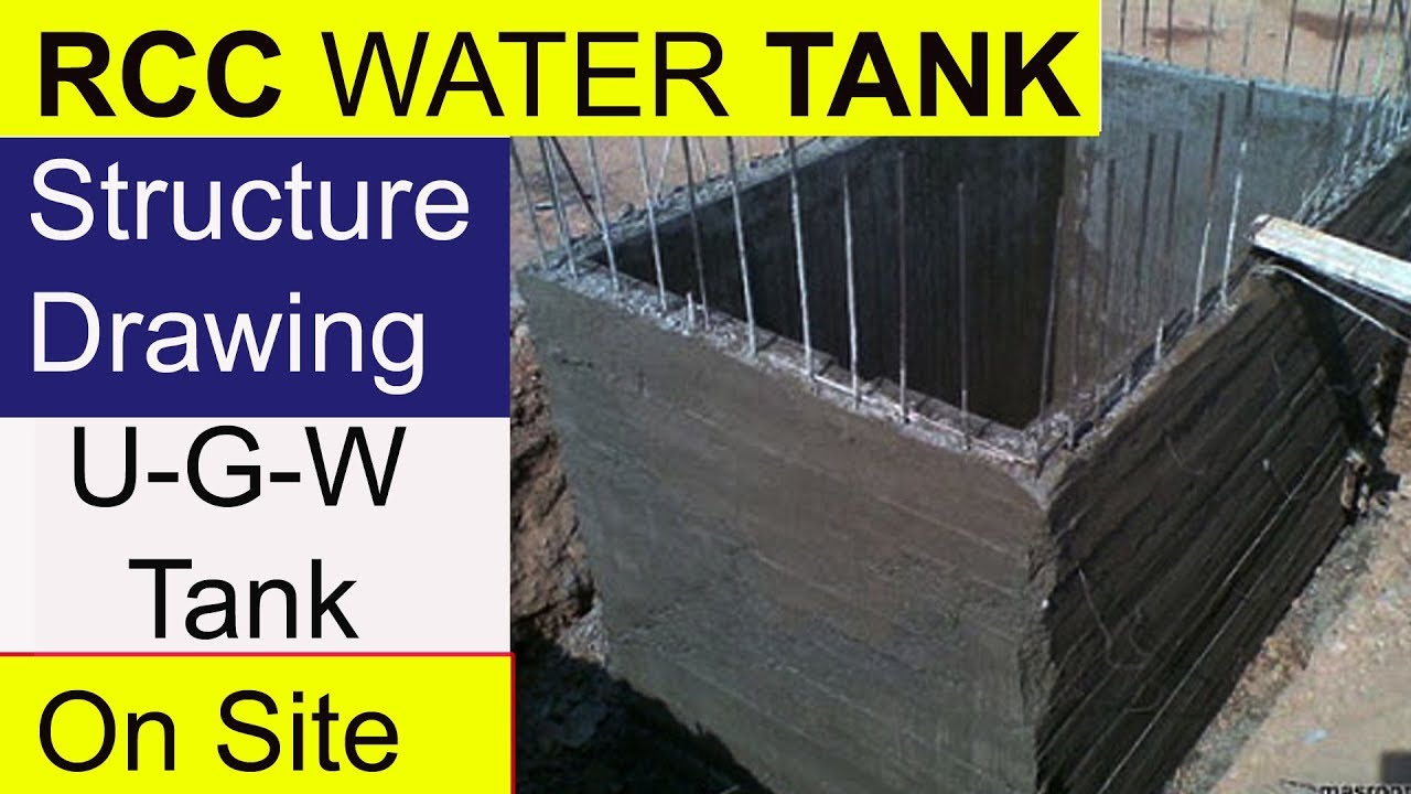 Rcc Water Tank Structure Drawing Design Of Civil Engineering