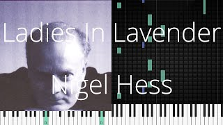 🎹 Ladies In Lavender, Nigel Hess, Synthesia Piano Tutorial