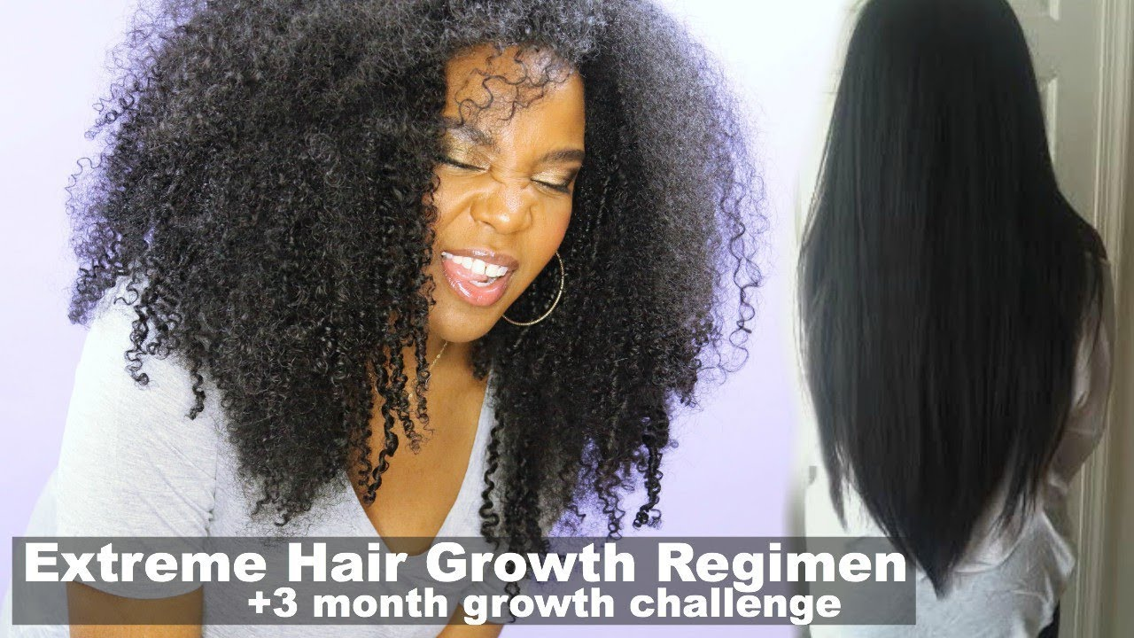Extreme Hair Growth Regimen How I Grew My Natural Hair 3 Month