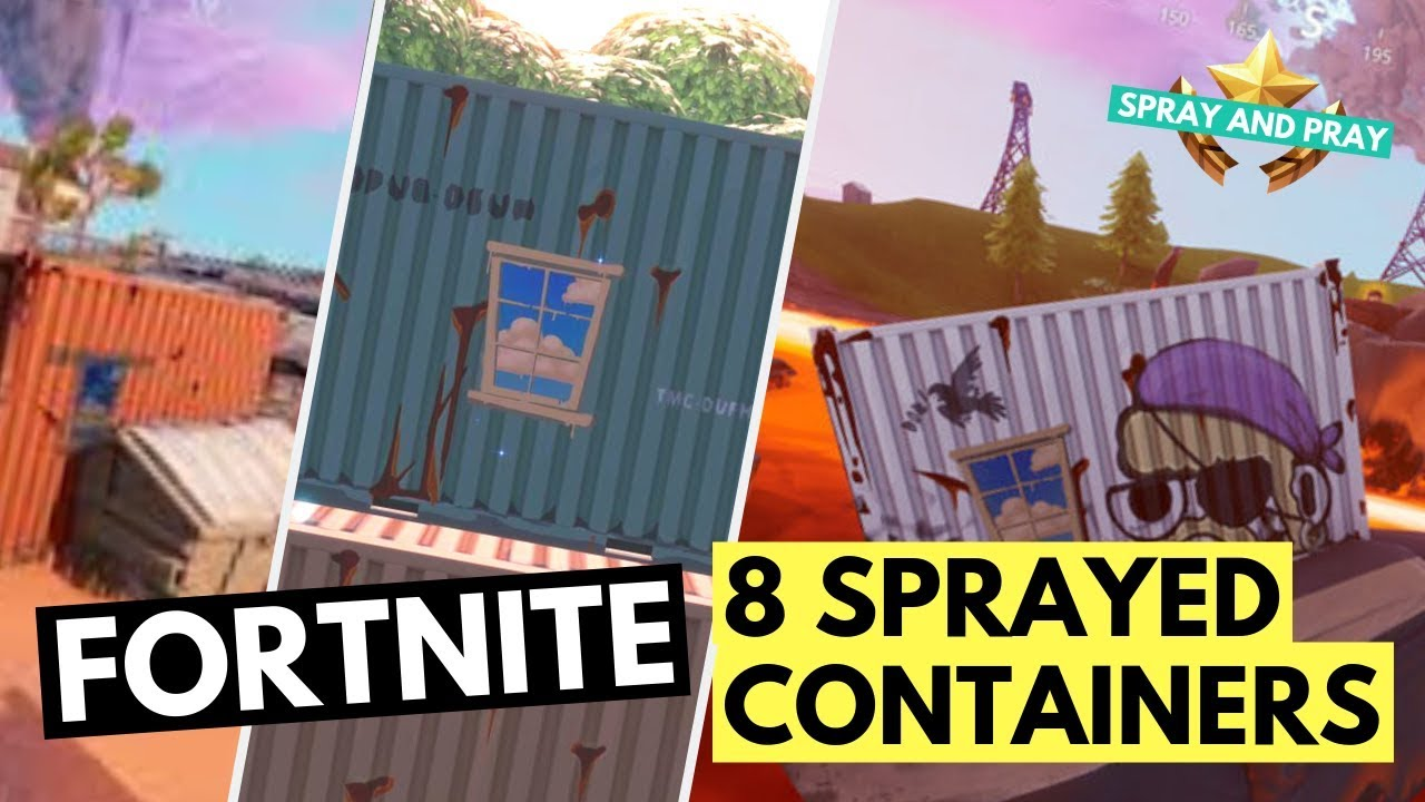 ALL WINDOW SPRAYED CONTAINER LOCATIONS - Open Chest inside Window Sprayed  Containers Fortnite