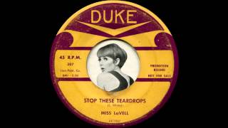 Miss Lavell - Stop these teardrops