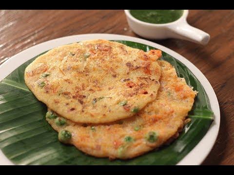 Rawa Vegetable Pancakes | Sanjeev Kapoor Khazana