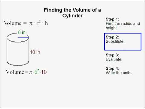 how to find the volume of a cylinder youtube. Black Bedroom Furniture Sets. Home Design Ideas