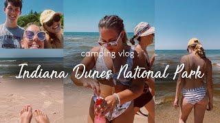 CAMPING VLOG: Indiana Dunes National Park + tent camping