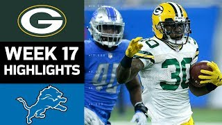 Packers vs Lions  NFL Week 17 Game Highlights