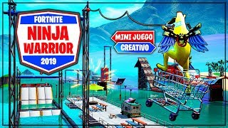 NINJA WARRIOR EN FORTNITE (MINIJUEGO PARKOUR)