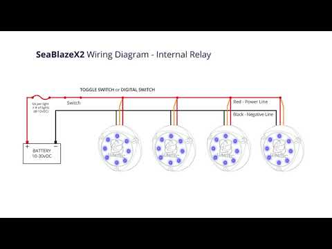 lumitec seablazex2 - wiring and internal relay - youtube  youtube