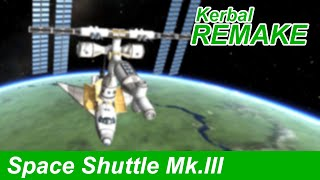 Space Shuttle building the ISS in KSP