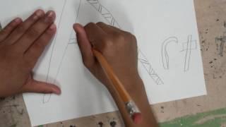E Man draws an Art zendoodle