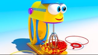 Mix Colored Candys for Kids and Children. Learn Colors with Toy Mixer