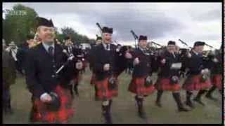 Field Marshal Montgomery Pipe Band Celebrating Their Win 2013