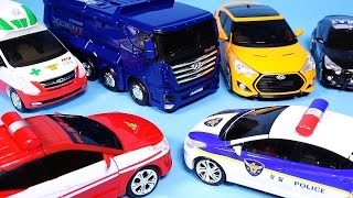 TOBOT CarBot transformers car toys Police Ambulance and more transforming cars