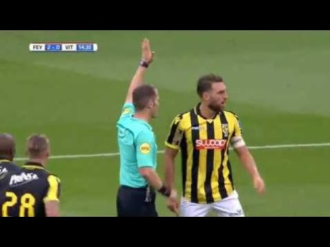 VAR confusion  Referee cancels Feyenoord goal to give Vitesse a penalty!!!