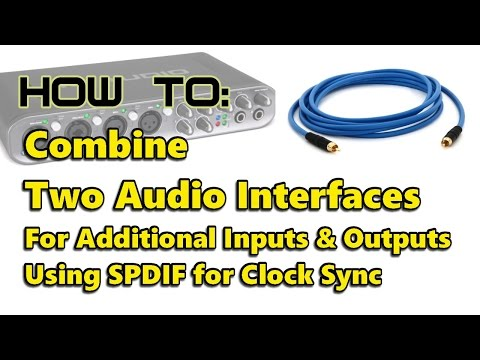 How to: Combine Two Audio Interfaces Using ASIO4ALL and SPDIF Clock Link