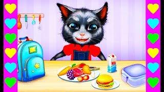 Котенок Том собирается в школу. Готовимся к школе. Развивающие мультики для детей.