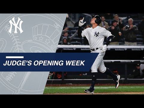 The best moments from Aaron Judge's 2018 Opening Week