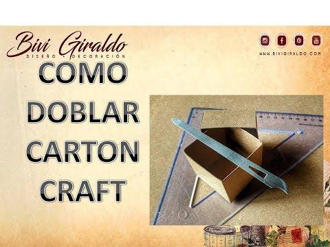 COMO DOBLAR EL CARTON KRAFT...TIPS DE MANUALIDADES
