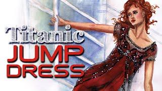How to Draw Beads Net & Red Silk | Jump dress TITANIC | Fashion Illustration | Fashion ARTventures