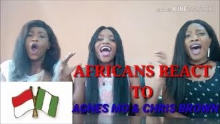 AGNEZ MO - Overdose (ft. Chris Brown) [Official Music Video] reaction Video by the Miller sisters