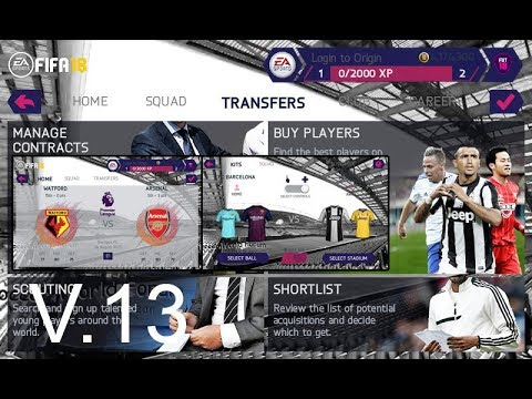 Game Android Offline FIFA 18 V.13 Kits and Player Transfer 18/19 (fifa 14 mod) Link + Cara Install - 동영상