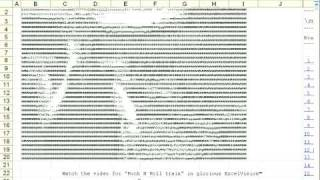 AC / DC Rock N Roll Train - ASCII music video in Excel