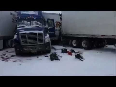 Wyoming I 80 East and Westbound Multi Car Crash
