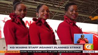 KQ warns staff against planned strike